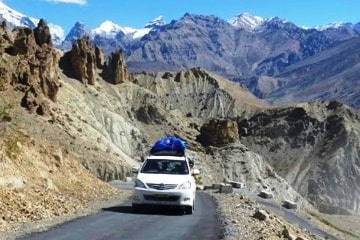 Manali Leh Ladakh Srinagar Delhi Jeep Safari Package